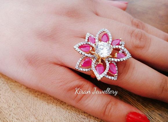 Elegant Ruby Color Ring