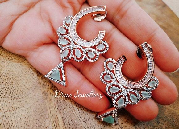 SeaGreen Stone Elegant Earrings