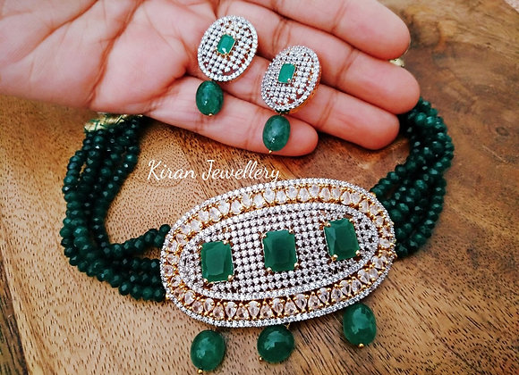 Green Color Elegant Choker