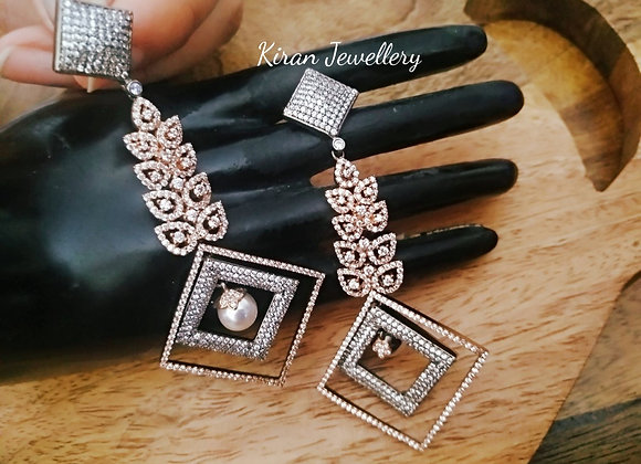 Black Polish Earrings