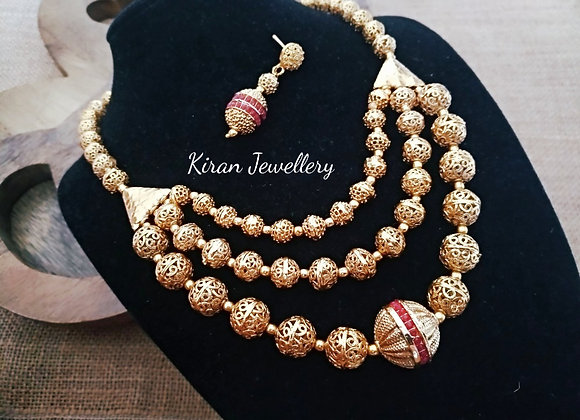 Antique Balls Mala Set