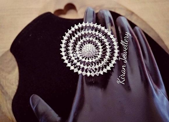 White Polish Stylish Ring