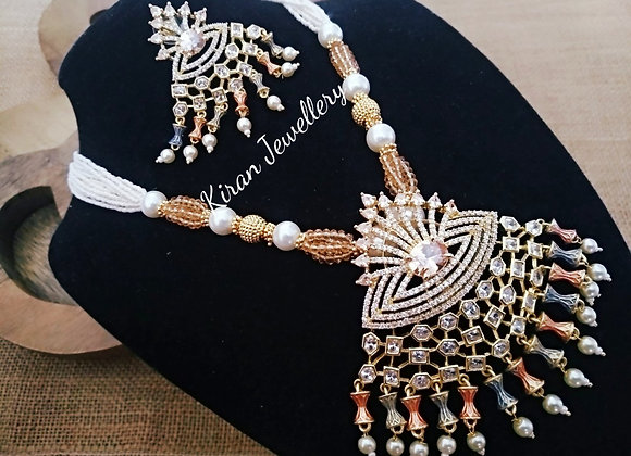 RoseGold Polish Necklace With Lovely Colors
