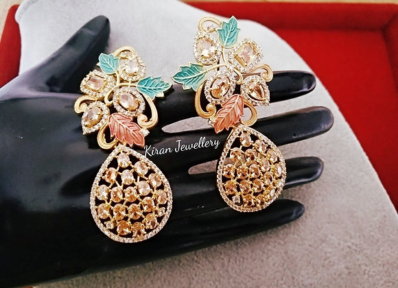Champagne  Color Stylish Earrings