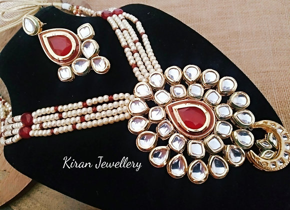 Royal Look Pearl Mala Necklace set