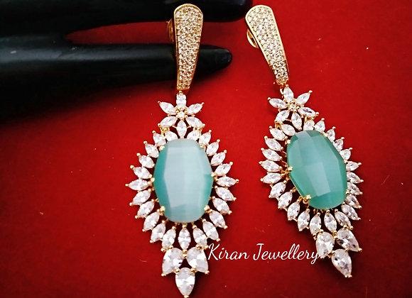 Elegant Sky Blue Earrings