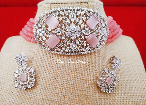Pink Color Stylish Choker