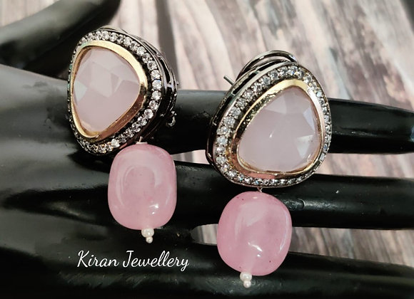 Pink Stone Elegant Studs
