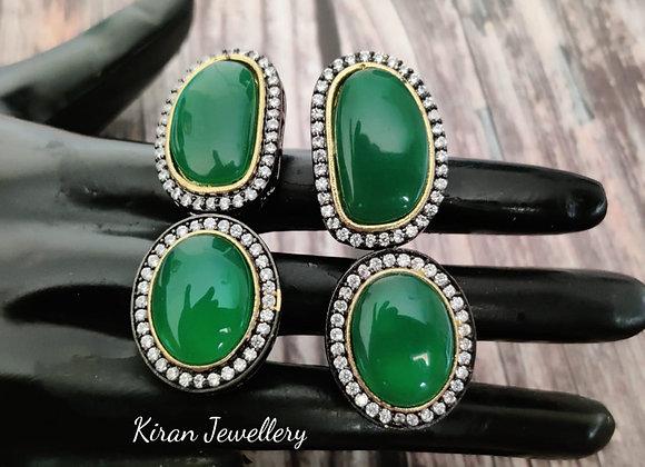 Elegant Green Earrings