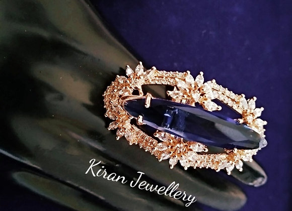 Blue Stone AD Ring