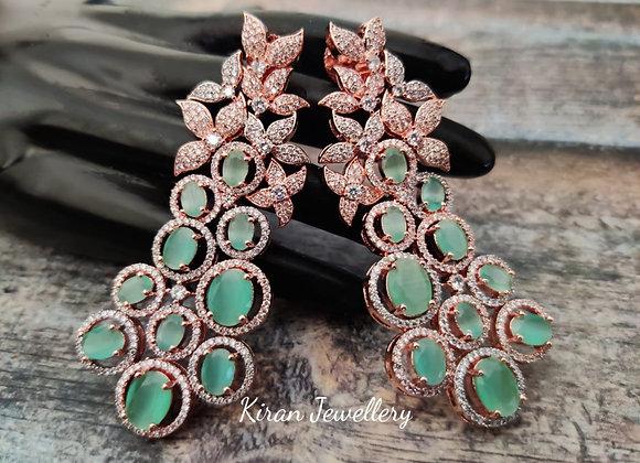 Mint Stone Stylish Earrings