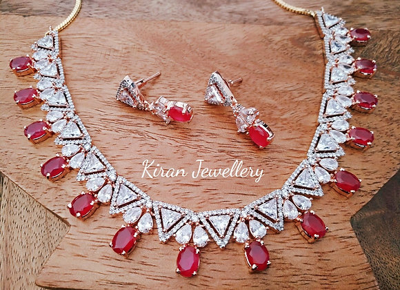 Intricate Ruby AD necklace