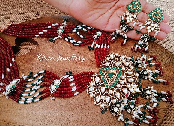 Rich Look Ahmedabadi Kundan Mala Set