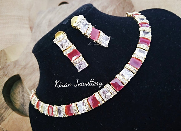 Ruby Color Elegant Necklace