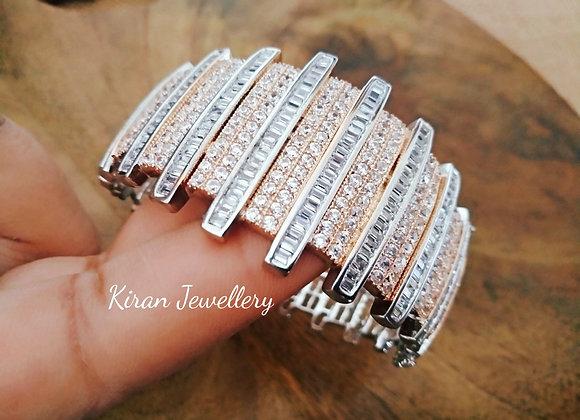 Rosegold Silver Polish Bracelet