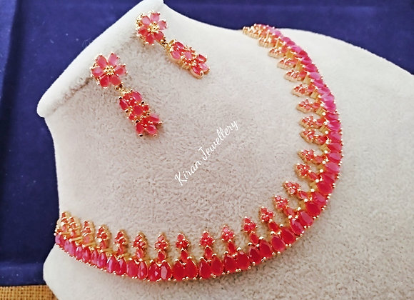 Ruby Color Elegant Necklace