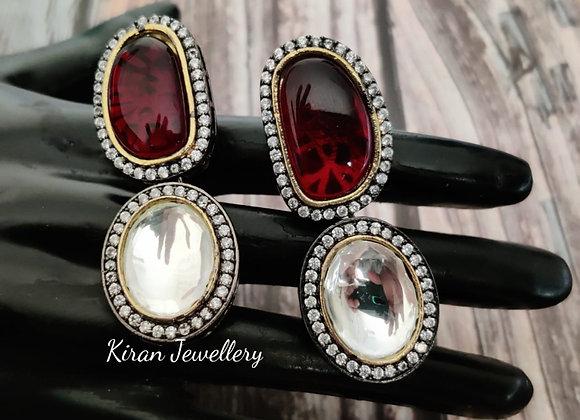 Elegant Ruby Earrings