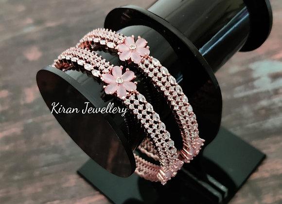 Pink Elegant Bangles