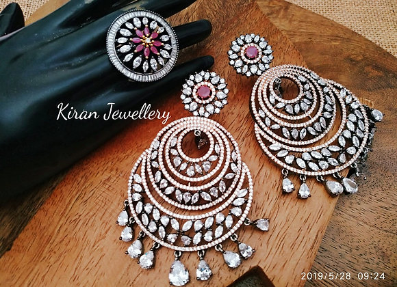 Earrings and Ring Combo