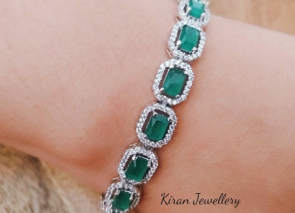 Green Stone Elegant Bracelet