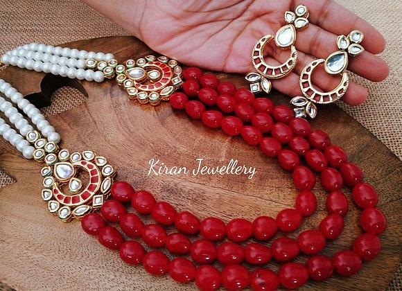 Ruby Mala Kundan Necklace