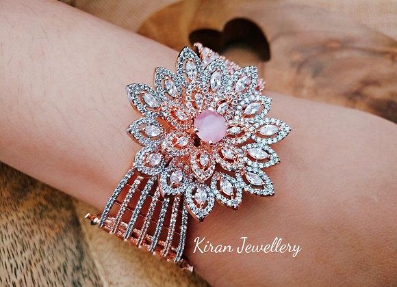 Pink Stone Stylish AD Bracelet