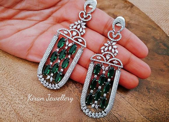 Green Stone Royal Look Earrings