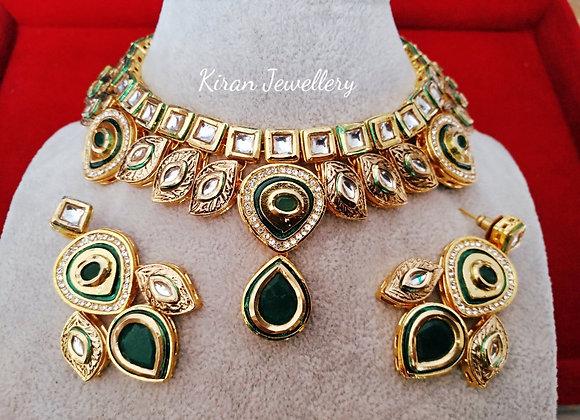 Green Stone Kundan Necklace