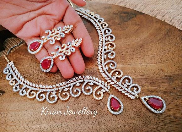 Elegant and Stylish Ruby Necklace