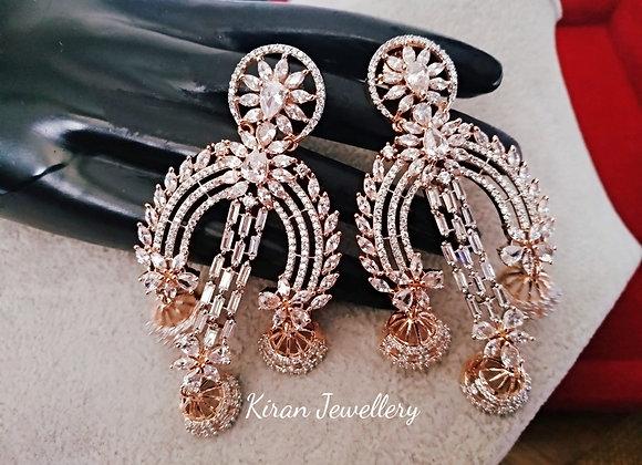 RoseGold Polish Stylish Earrings