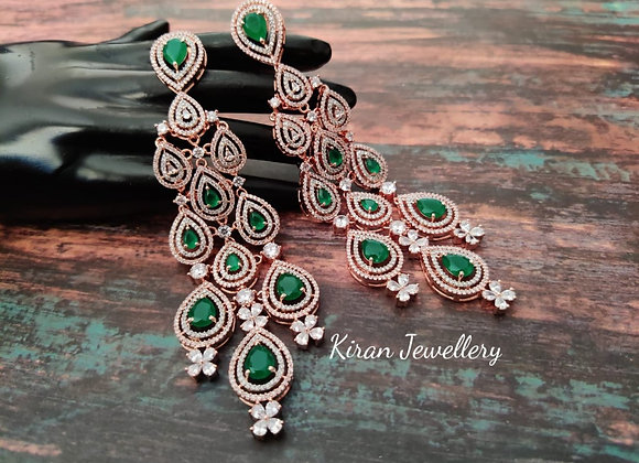 Green Stone Exclusive Earrings
