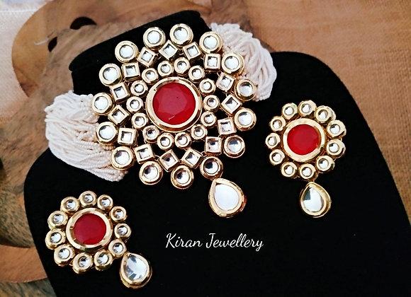 Ruby Stone Kundan Choker