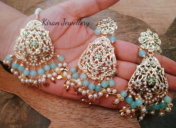 Earrings mangtikka combo