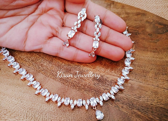 Sleek and Simple RoseGold Polish Necklace