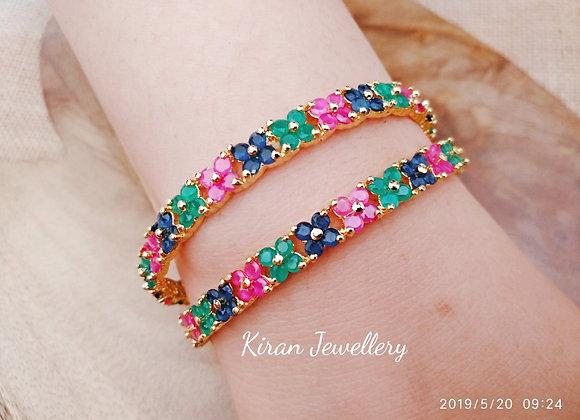 Multicolor Flower Bangles