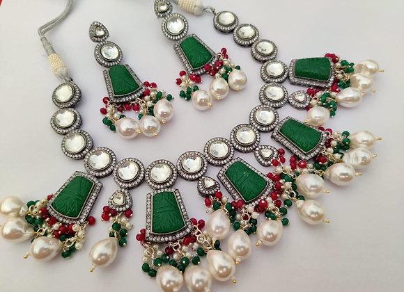 Green Stone Stylish Necklace