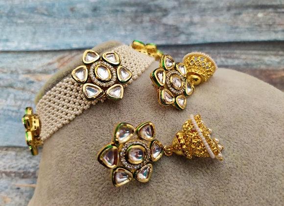 Pearl-Kundan Choker Necklace