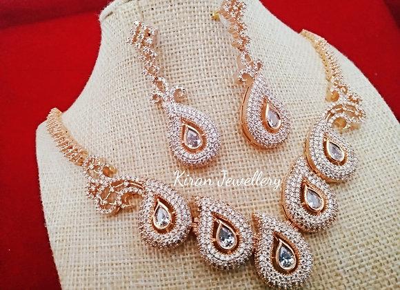 RoseGold Polish Stylish Necklace
