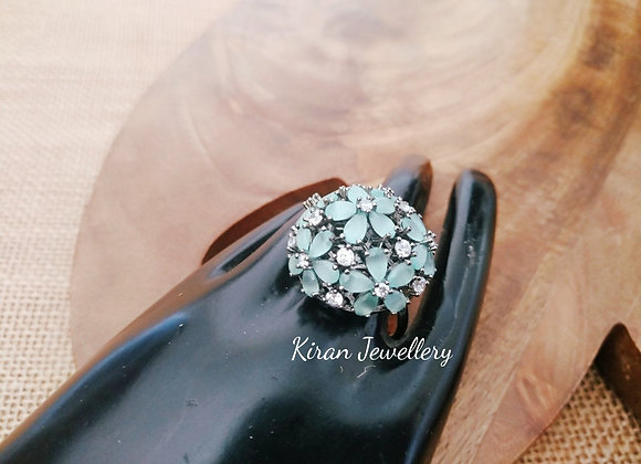 Sea green Color Elegant Ring
