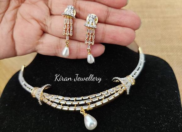 Sleek and Stylish AD Necklace