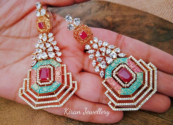Earrings with Lovely Colors