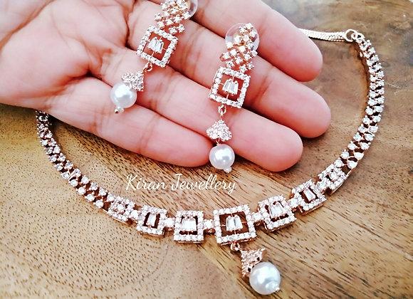 RoseGold Polish Necklace Set