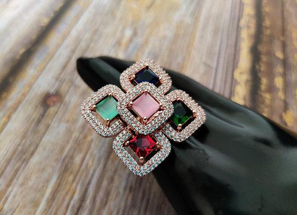 Multicolored Stone Ring