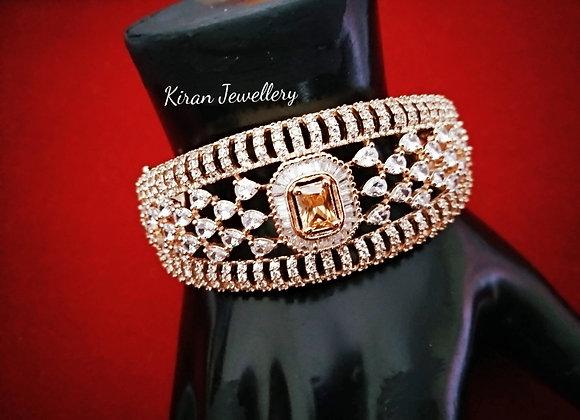Elegant Champagne Stone Bracelet