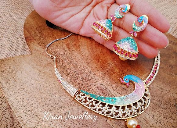 Multicolor Peacock Necklace