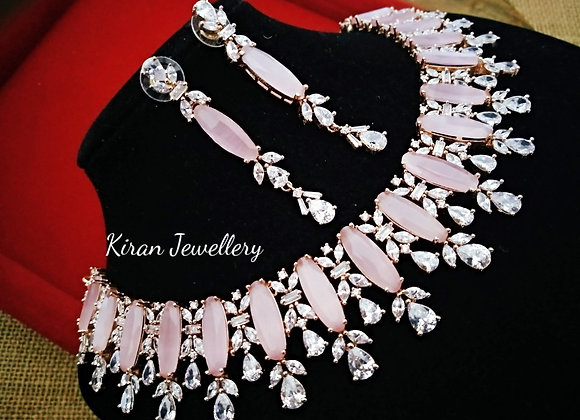 Pink Color Elegant Necklace