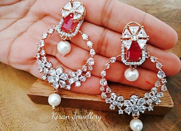Ruby Stone AD Chandbaali
