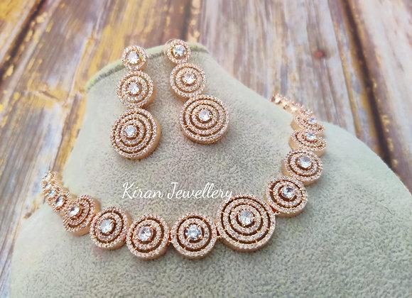 RoseGold Plated Elegant Necklace