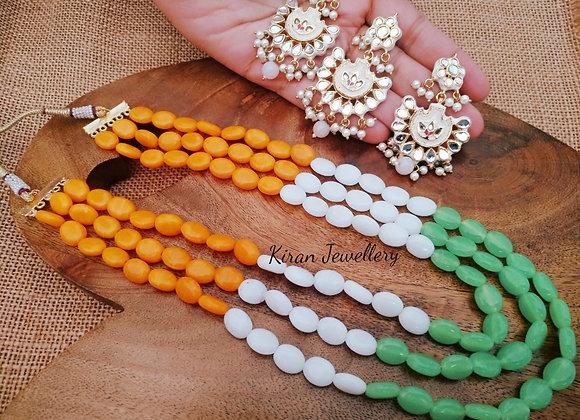 Elegant TriColor Necklace