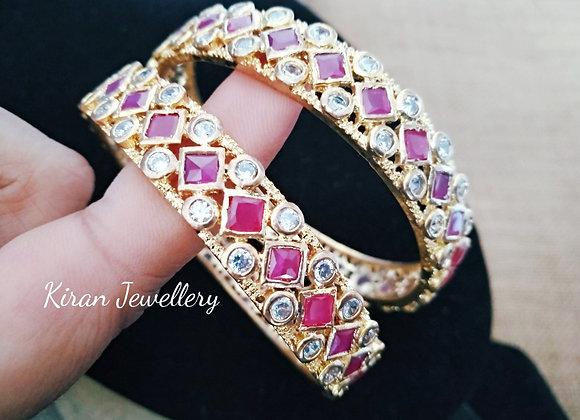 Ruby Color Stylish Bangles
